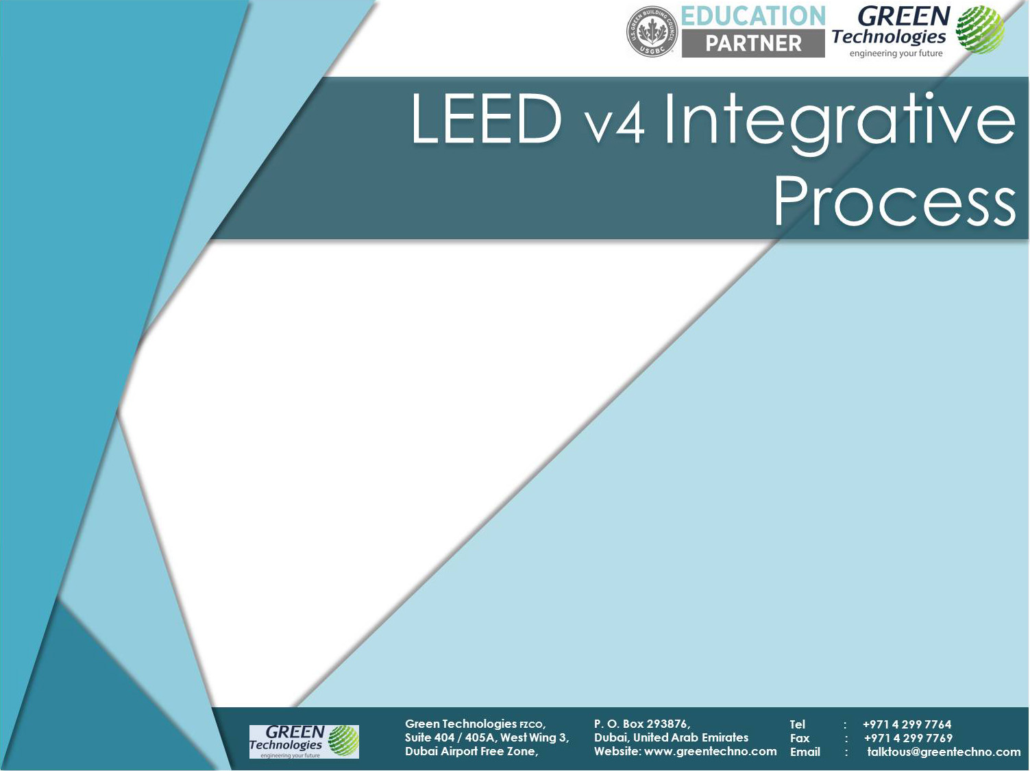 Leed V4 Integrative Process Green Technologies