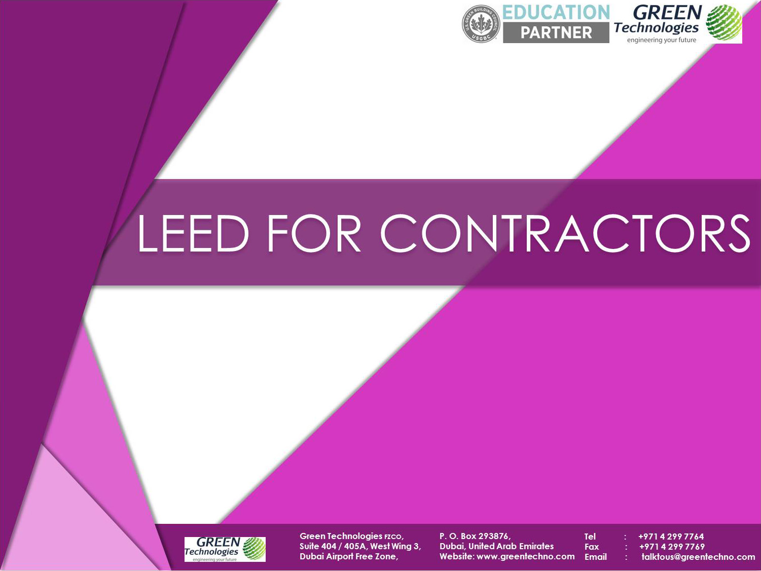 Leed v4 for contractors green technologies course summary 1betcityfo Gallery