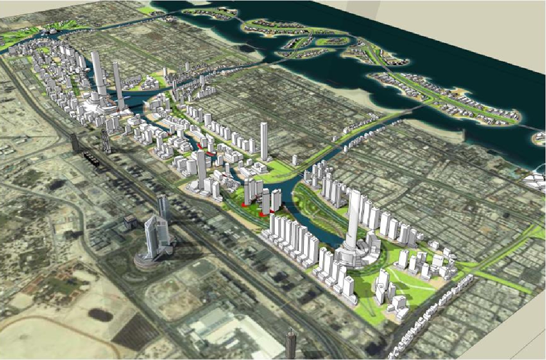 jumeirah garden city development dubai united arab emirates green
