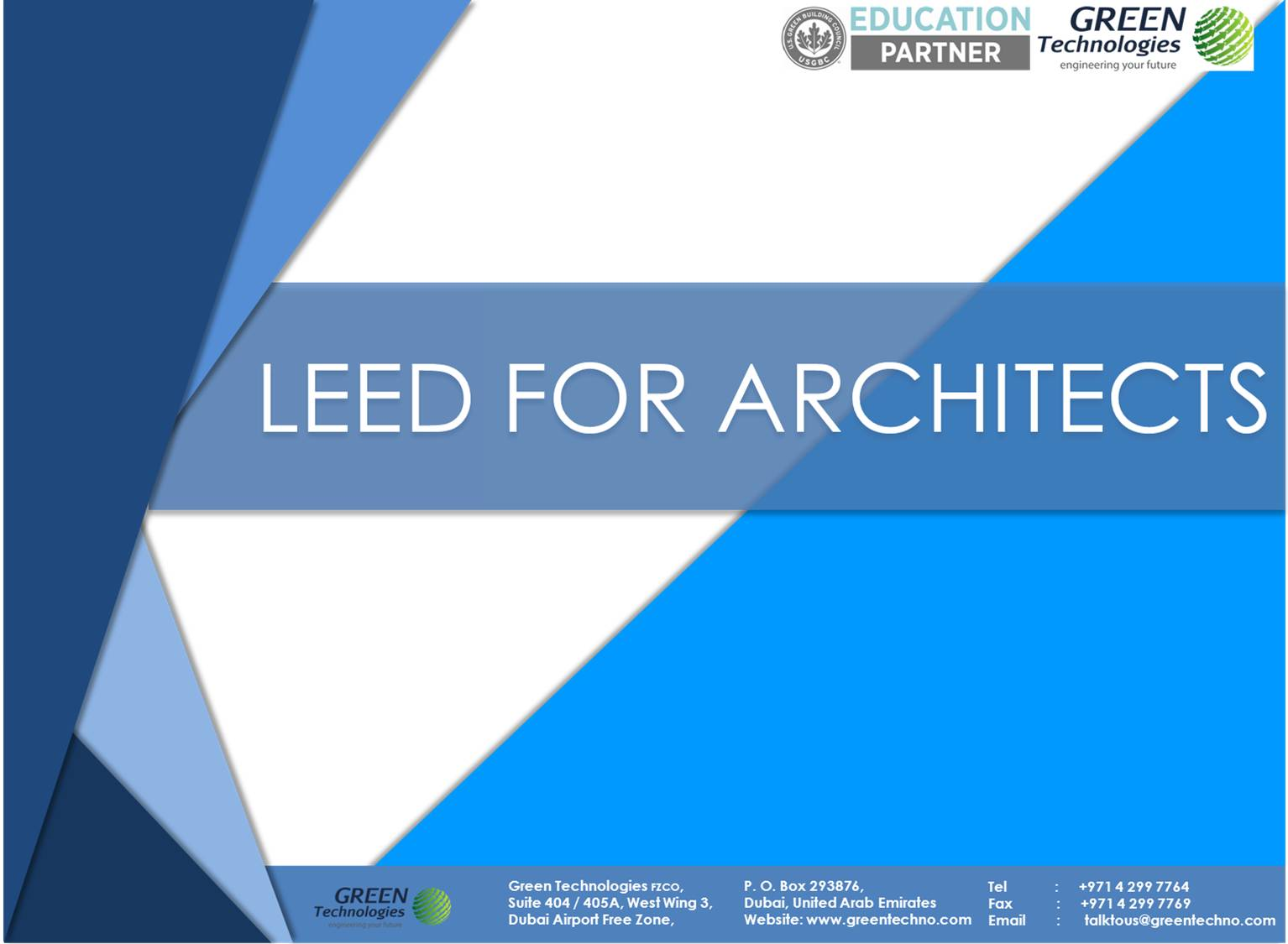 LEED for Architects Cover