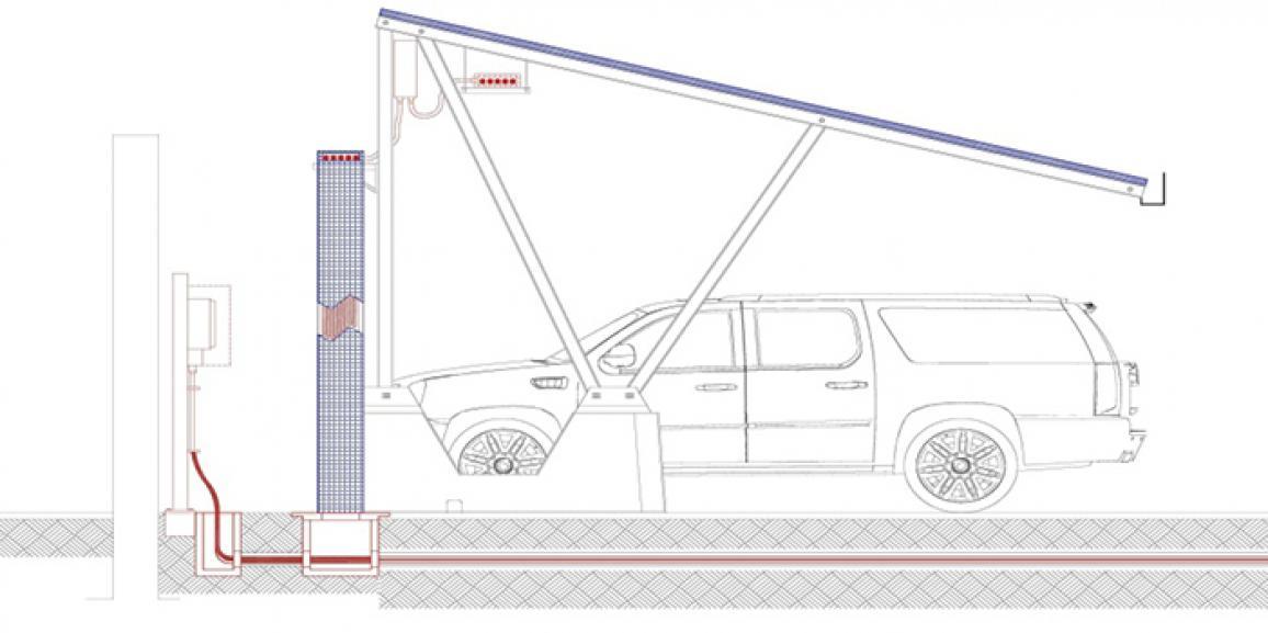 Design Of Shaded Solar Car Parking System(S)  Abu Dhabi, United Arab Emirates